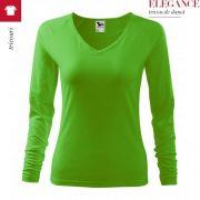 Tricou cu maneca lunga de dama Elegance, verde mar