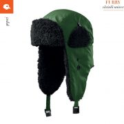 Caciula iarna unisex Furry, verde sticla