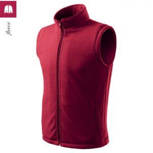 Vesta fleece unisex Next, culoare rosu bordo
