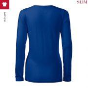 Bluza albastru regal de dama, Slim