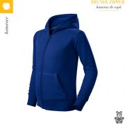 Hanorac copii albastru regal, Trendy Zipper