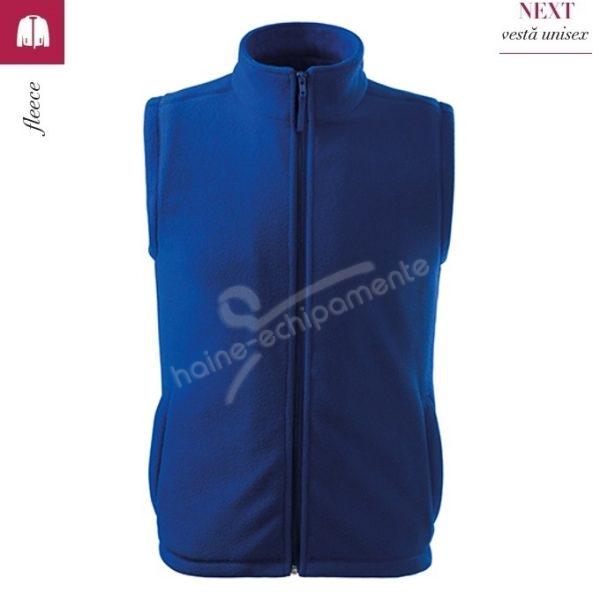 Vesta fleece, unisex, albastru regal, Next