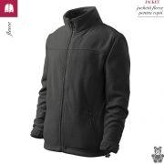 Jacheta gri metalic din fleece pentru copii, Jacket