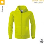 Hanorac copii lime, Trendy Zipper