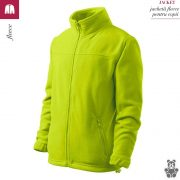 Jacheta lime din fleece pentru copii, Jacket