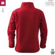Jacheta rosu marlboro din fleece pentru copii, Jacket