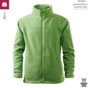 Jacheta verde iarba din fleece pentru copii, Jacket