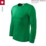 Bluza verde mediu barbati, Fit-t