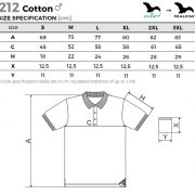 Tabel marimi Tricou Cotton pentru barbati