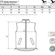 Tabel marimi Vesta barbati Body Warmer
