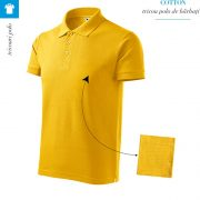 Tricou galben polo barbati, Cotton
