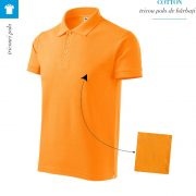Tricou tangerine orange polo barbati, Cotton
