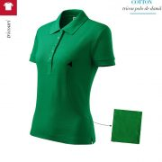 Tricou verde mediu polo de dama, Cotton