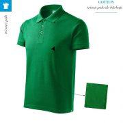 Tricou verde mediu polo barbati, Cotton