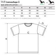 Tabel marimi Tricou camuflaj pentru copii