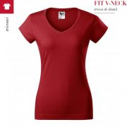 Tricou dama Fit V-Neck, rosu