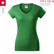 Tricou dama Fit V-Neck, verde mediu