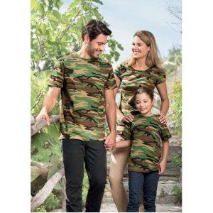 Tricou pentru copii in culori camuflaj