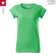 Tricou verde melanj dama, Fusion