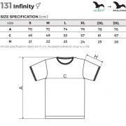 Tabel marimi Tricou unisex Infinity