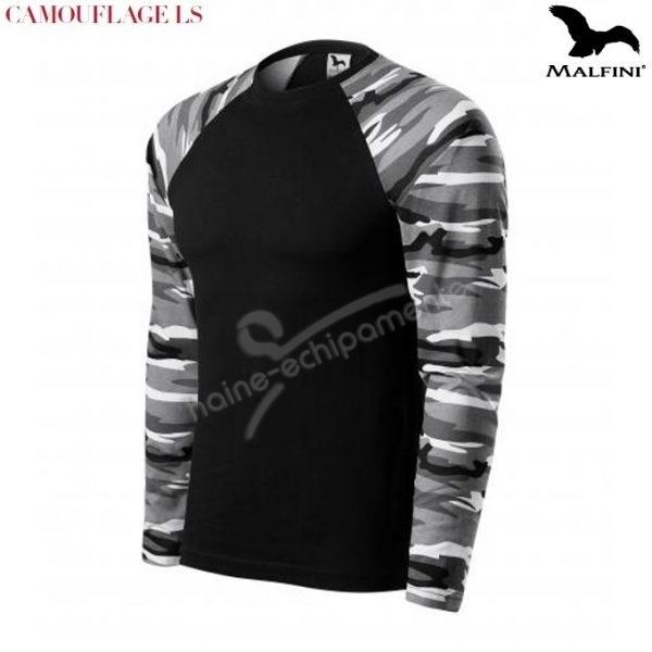 Bluza unisex, in culori camuflaj gri