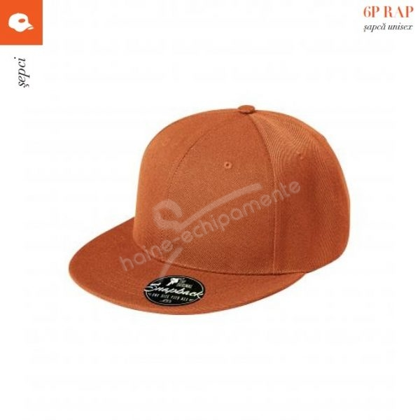 Sapca RAP 6P unisex, portocaliu