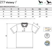 Tabel marimi Tricou polo unisex Victory