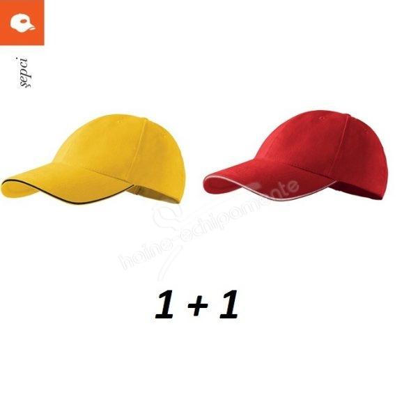 Set 2 x sapca unisex cu design sportiv din Bumbac 100%