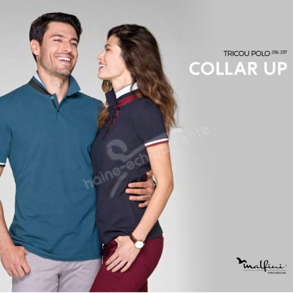 Tricou dama Collar Up