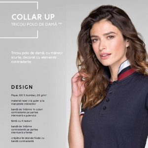 Tricou polo de dama Collar Up