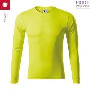 Tricou sport unisex Pride, gallben neon