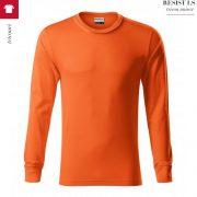 Bluza portocaliu unisex, Resist LS
