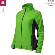 Jacheta fleece de dama, verde mar