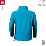 Jacheta fleece pentru copii, turcoaz