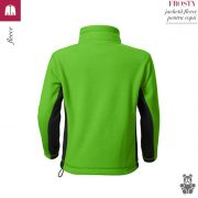 Jacheta fleece pentru copii, verde mar