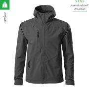 Jacheta gri metalic softshell pentru barbati, Nano