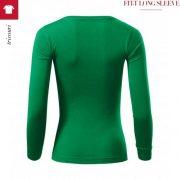 Bluza verde mediu de dama, Fit-T