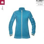 Jacheta albastru petrol, de dama, din fleece, Floret