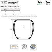 Tabel marimi Rucsac Energy