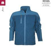 Jacheta albastru frantuzesc din fleece, pentru barbati, Michael