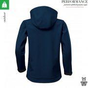 Jacheta albastru marin copii, din softshell,  Performance