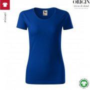 Tricou dama, albastru regal, din bumbac organic, Origin