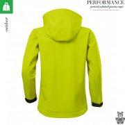 Jacheta lime copii, din softshell,  Performance