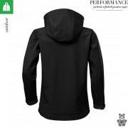 Jacheta negru copii, din softshell,  Performance