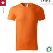 Tricou portocaliu, din bumbac organic, Native