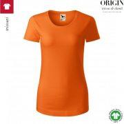 Tricou dama, portocaliu, din bumbac organic, Origin