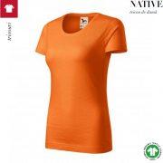 Tricou portocaliu dama, din bumbac organic, Native