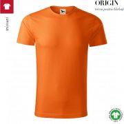 Tricou portocaliu, din bumbac organic, Origin