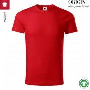 Tricou rosu, din bumbac organic, Origin