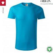 Tricou turcoaz, din bumbac organic, Origin